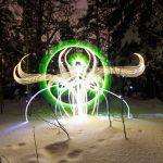 The Light Painting Photographer Who Lights Up Finland's Polar Night