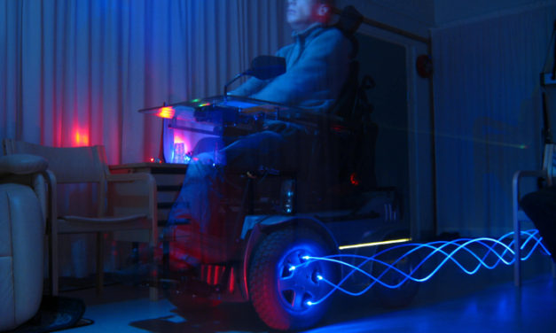 Light painting for people with special needs