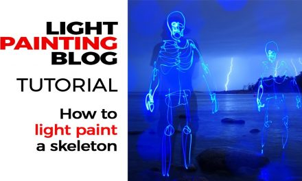 Light Painting Tutorial – How to light paint a skeleton