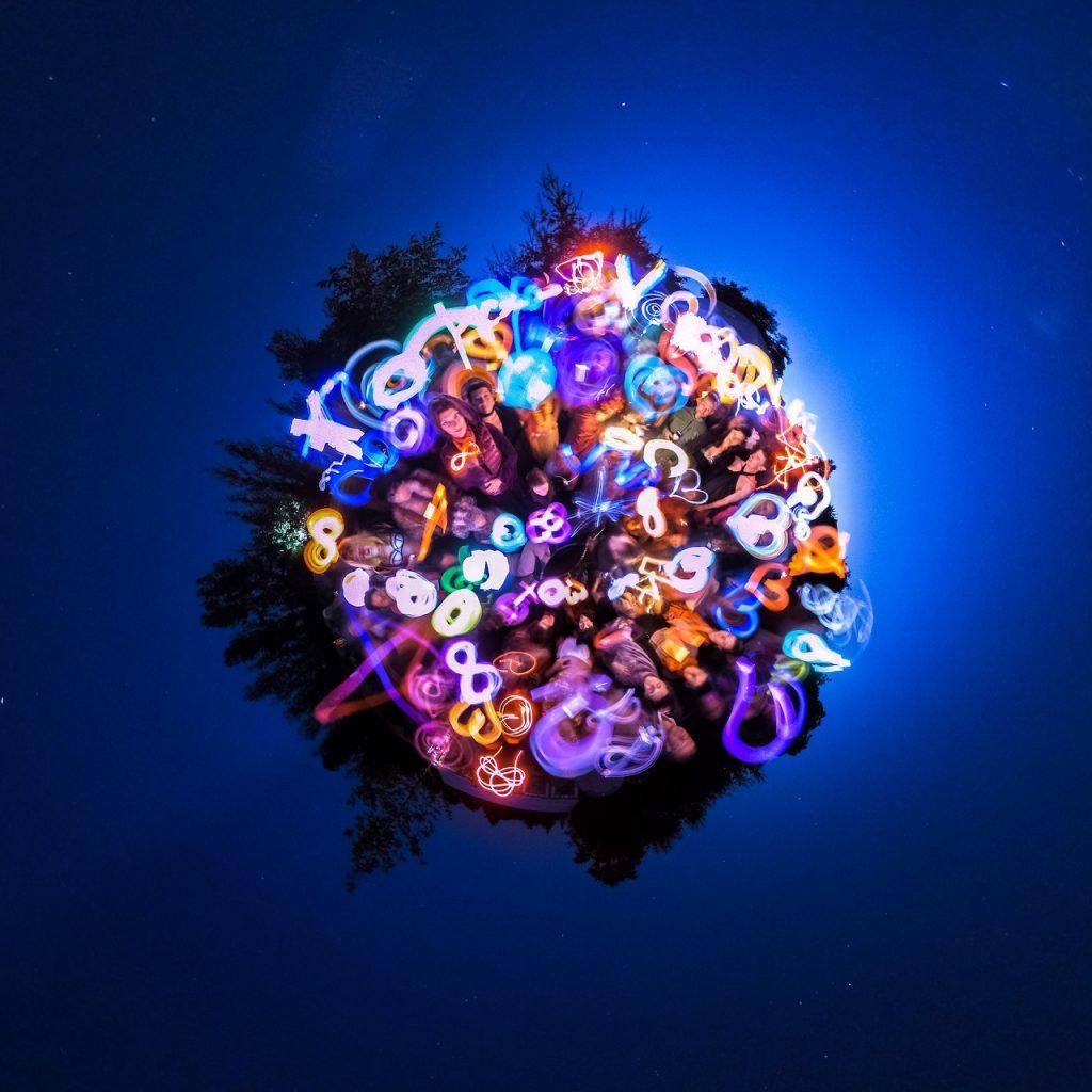 360 light painting