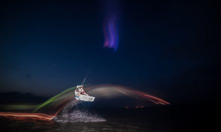 Kite Surfing Light Painting
