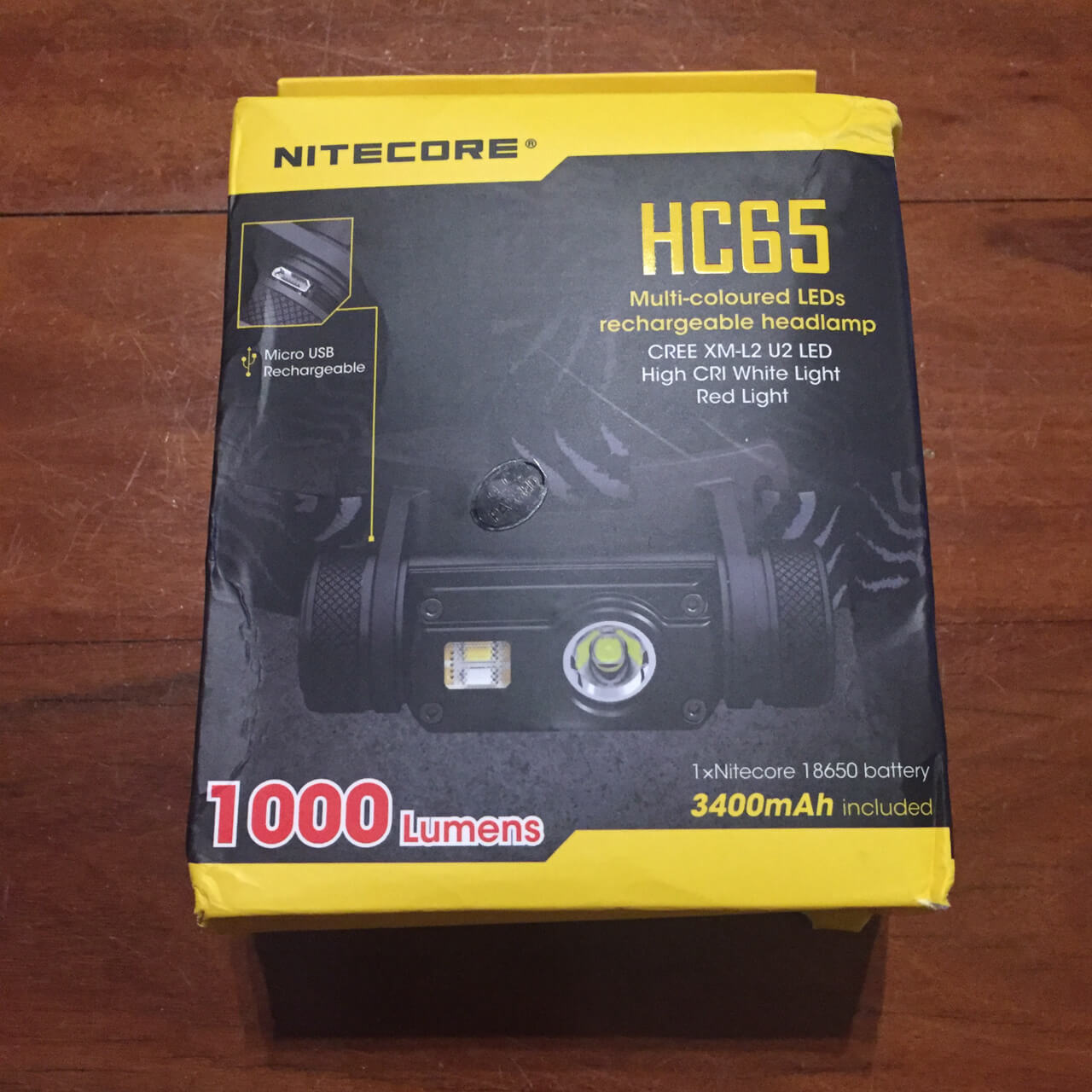 Nitecore HC65 Headlamp Packaging