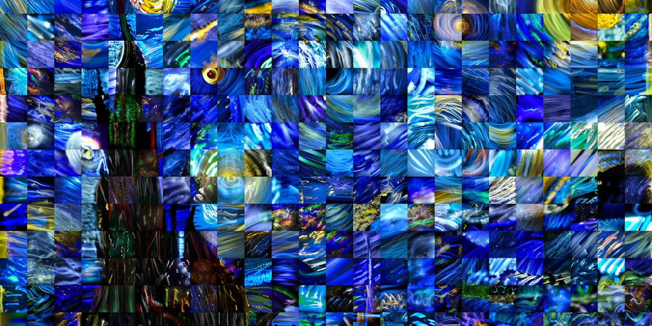 Stars of Night, The World Light Painting Mosaic
