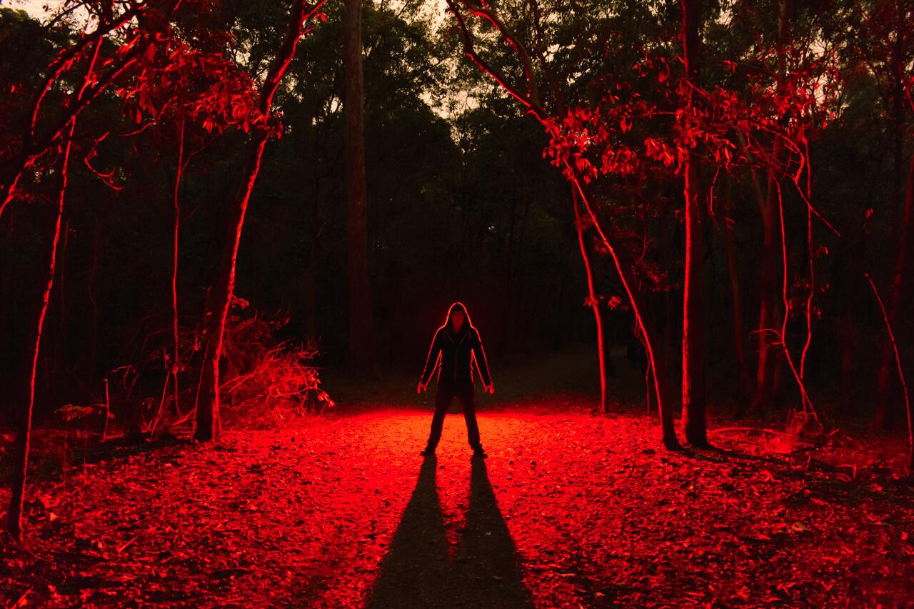 Red backlighting