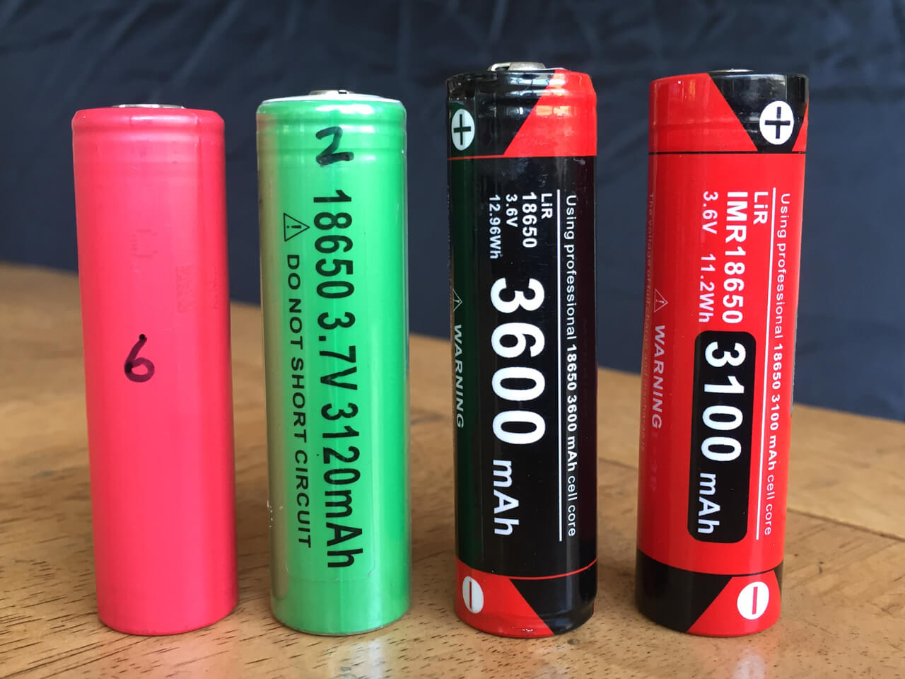 18650 li-ion batteries