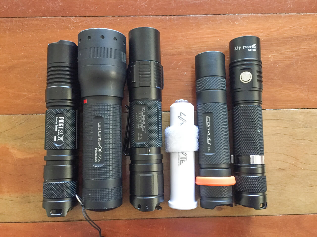 Selection of flashlights