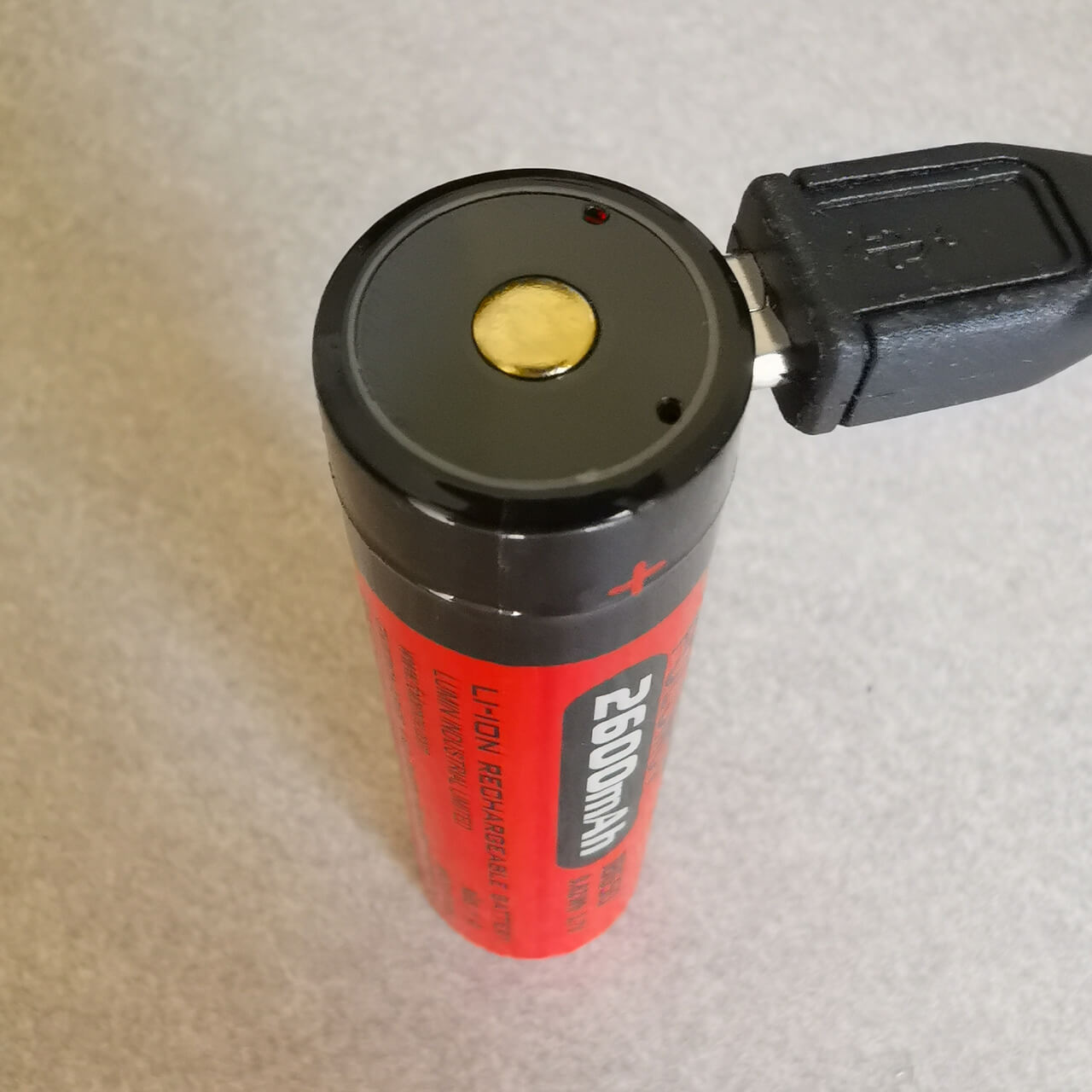 18650 battery with USB charging