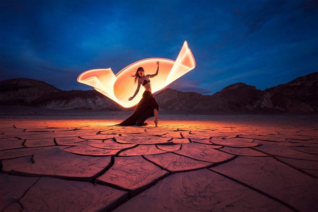 fotografía creativa ideas de proyectos senderos de luz